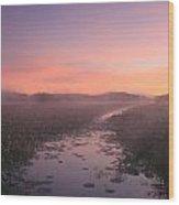 Great Meadows National Wildlife Refuge Dawn Wood Print by John Burk