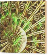 Green And Gold Wood Print by Caryn Schulenberg