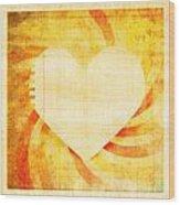 greeting card Valentine day Wood Print by Setsiri Silapasuwanchai