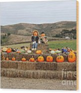 Halloween Pumpkin Patch 7d8478 Wood Print by Wingsdomain Art and Photography