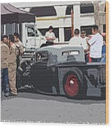 Hanging At The Car Show Wood Print by Steve McKinzie