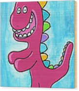 Happosaur Wood Print by Jera Sky
