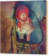 Happy Dolly Wood Print by Susanne Van Hulst