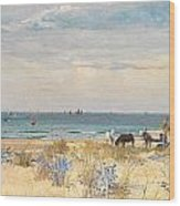 Harvesting The Land And The Sea Wood Print by William Lionel Wyllie