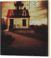Haunted Lighthouse Wood Print by Edward Fielding