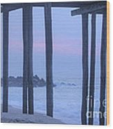 Hdr Beach Pier Ocean Beaches Art Photos Pictures Buy Sell Selling New Pics Sea Seaview Scenic   Wood Print by Pictures HDR