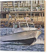 Hdr Boat Boats Sea Ocean Fishing Jetty Boadwalk Photos Pictures Photography Scenic Landscape Pics Wood Print by Pictures HDR