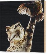 He Got Away Wood Print by DiDi Higginbotham