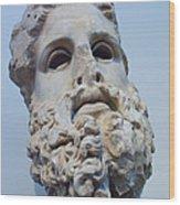 Head Of Zeus At The Acropolis Museum Wood Print by Richard Nowitz