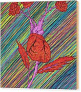 Heart Made Of Roses Wood Print by Kenal Louis