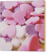 Heart Shaped Candies Wood Print by Rolfo