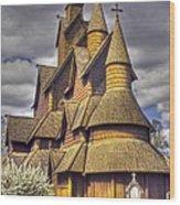 Heddal Stave Church  Wood Print by Heiko Koehrer-Wagner