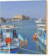 Heraklion - Venetian Fortress - Crete Wood Print by Joana Kruse