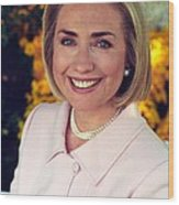 Hillary Rodham Clinton In A White House Wood Print by Everett