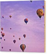 Hot Air Balloon Race - 1 Wood Print by Randy Muir
