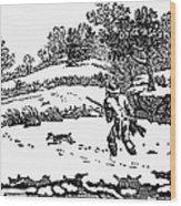 Hunting: Winter, C1800 Wood Print by Granger