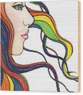 I Am My Own Rainbow Wood Print by Nora Blansett