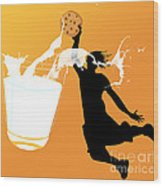 I Can Dunk Wood Print by Laura Brightwood