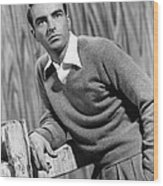 I Confess, Montgomery Clift, 1953 Wood Print by Everett