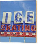 Ice Skating Wood Print by Matthew Bamberg