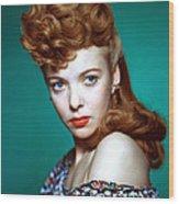 Ida Lupino, Ca. 1940s Wood Print by Everett