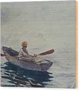 In A Boat Wood Print by Winslow Homer