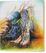 In The Garden Wood Print by Adam Vance