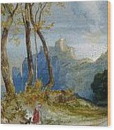 In The Hills Wood Print by Thomas Moran