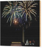 Independence Day In Dc Wood Print by David Hahn