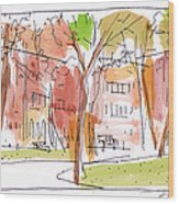 Independence Park Philadelphia Wood Print by Marilyn MacGregor