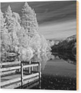 Infrared Glencoe Lochan Wood Print by Billy Currie Photography