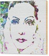 Ingrid Bergman  Wood Print by Naxart Studio