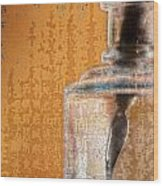 Ink Bottle Calligraphy Wood Print by Carol Leigh