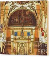 Inside St Louis Cathedral Jackson Square French Quarter New Orleans Digital Art Wood Print by Shawn O'Brien
