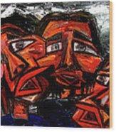 Is 3 Really A Crowd Wood Print by Karen Elzinga
