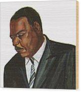 Issa Hayatou Wood Print by Emmanuel Baliyanga