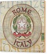 Italian Coat Of Arms Wood Print by Debbie DeWitt