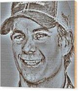 Jeff Gordon In 2010 Wood Print by J McCombie