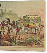 Jesse And Frank James, Cole, John Wood Print by Everett