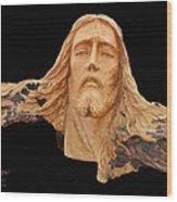 Jesus Christ Wooden Sculpture -  Four Wood Print by Carl Deaville
