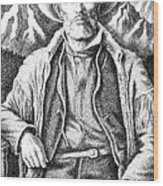 Jim Bridger Wood Print by Gordon Punt