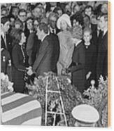 Johnson Funeral, 1973 Wood Print by Granger