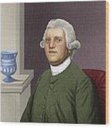 Josiah Wedgwood, British Industrialist Wood Print by Maria Platt-evans