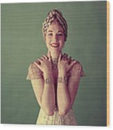 Julie Andrews, Mid-late 1950s Wood Print by Everett