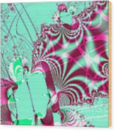 Kabuki Wood Print by Wingsdomain Art and Photography