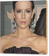Kate Beckinsale At Arrivals For 14th Wood Print by Everett