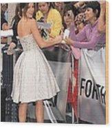 Kate Beckinsale Wearing An Elie Saab Wood Print by Everett
