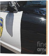 Kensington California Police Car . 7d15876 Wood Print by Wingsdomain Art and Photography