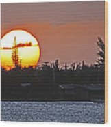Key West Sunset Wood Print by T Guy Spencer