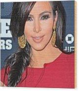 Kim Kardashian At Arrivals For 2011 Wood Print by Everett